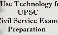 Image Featuring The Use Technology For UPSC, Civil Service Exam Preparation Concept.