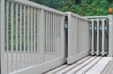 An Image of Metal Iron And Stainless Steel Automatic Gates For Industrial Purpose.