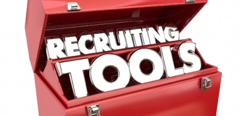 An image of English letters denoting Recruitment Tools